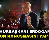 Cumhurbaşkanı Erdoğan, balkon konuşmasını yaptı!