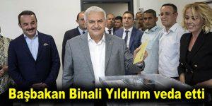 Başbakan Binali Yıldırım veda etti