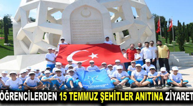 Küçükçekmeceli öğrenciler, 15 Temmuz Şehitler Anıtı'nı ziyaret ettiler