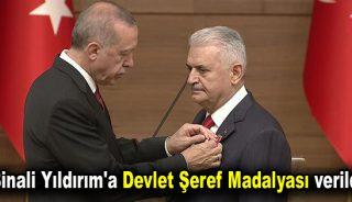 Binali Yıldırım'a Devlet Şeref Madalyası verildi