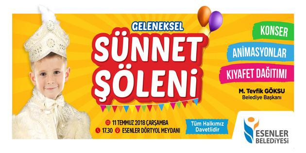 ESENLE'DE 1.000 ÇOCUKLA SÜNNET ŞÖLENİ