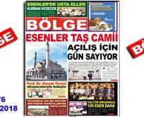 """BÖLGE GAZETESİ , YIL:18 , SAYI: 176 , """"AĞUSTOS 2018"""" SAYISI ÇIKTI!.."""