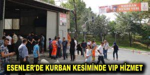 ESENLER'DE KURBAN KESİMİNDE VIP HİZMET