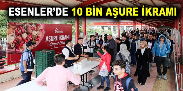 ESENLER'DE 10 BİN AŞURE İKRAMI