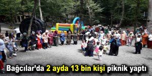 Bağcılar'da 2 ayda 13 bin kişi piknik yaptı