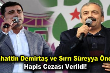 Selahattin Demirtaş ve Sırrı Süreyya Önder'e hapis cezası verildi!