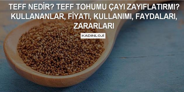 Teff tohumu zayıflamak için nasıl kullanılır? Fiyat nedir?