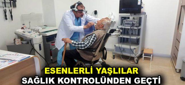 Esenlerli yaşlılar sağlık kontrolünden geçti