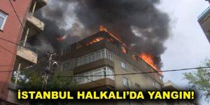 İstanbul Halkalı'da yangın!
