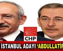 """CHP'nin İstanbul Adayı """"Abdüllatif Şener"""""""