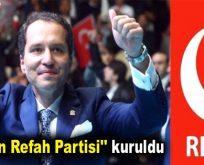 """""""Yeniden Refah Partisi"""" kuruldu"""