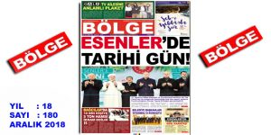 """BÖLGE GAZETESİ , YIL:18 , SAYI: 180 , """"ARALIK"""" SAYISI ÇIKTI!.."""