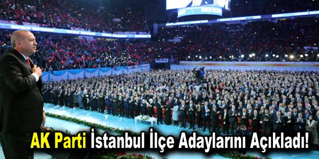 Cumhurbaşkanı Erdoğan, AK Parti'nin İstanbul İlçe Adaylarını Açıkladı!