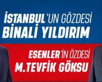 İSTANBUL'A YILDIRIM, ESENLER'E GÖKSU…
