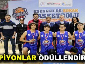 Sokak Basketbolunun Şampiyonları Ödüllendirildi