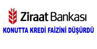 Ziraat Bankası konutta kredi faizini düşürdü
