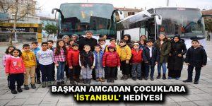 BAŞKAN AMCADAN ÇOCUKLARA 'İSTANBUL' HEDİYESİ