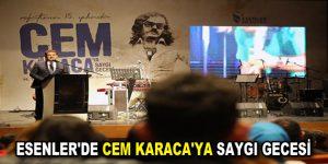 Usta sanatçı Cem Karaca, Esenler'de anıldı.
