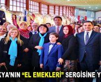 """BATI TRAKYA'NIN """"EL EMEKLERİ"""" SERGİSİNE YOĞUN İLGİ"""