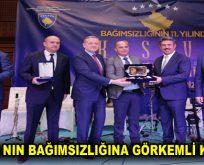 KOSOVA' NIN BAĞIMSIZLIĞINA GÖRKEMLİ KUTLAMA