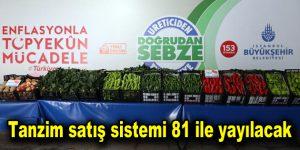 Tanzim satış sistemi 81 ile yayılacak