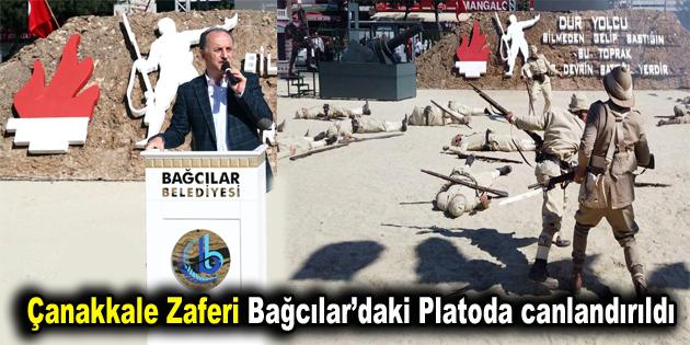 Çanakkale Zaferi Bağcılar'daki Platoda canlandırıldı