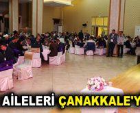 ŞEHİT AİLELERİ ÇANAKKALE'Yİ ANDI