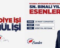 BİNALİ YILDIRIM ESENLER'DE