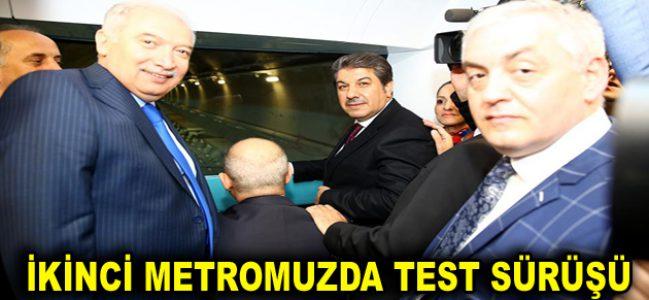 İKİNCİ METROMUZDA TEST SÜRÜŞÜ