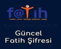 FATİH ŞİFRESİ