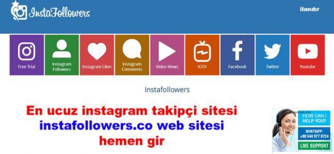 En ucuz instagram takipçi sitesi instafollowers.co web sitesi hemen gir