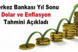 Merkez Bankası'ndan Dolar ve Enflasyon Tahmini
