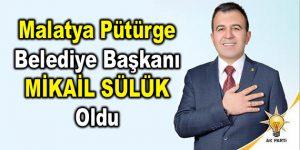 Pütürge Belediye Başkanı Mikail Sülük oldu