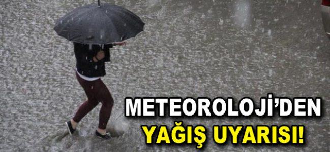 Meteoroloji yağış uyarısı!