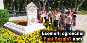 Esenlerli öğrenciler Fuat Sezgin'i andı