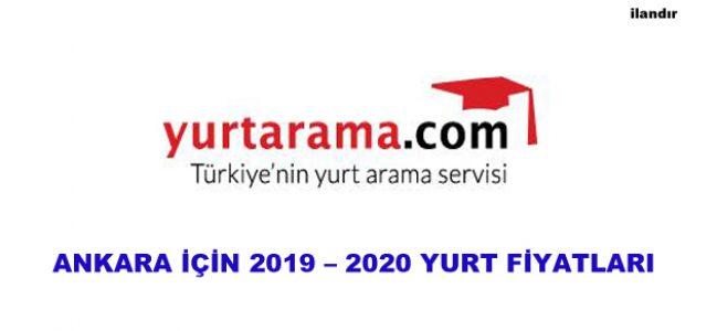 ANKARA İÇİN 2019 – 2020 YURT FİYATLARI
