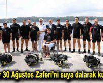 Engelliler 30 Ağustos Zaferi'ni suya dalarak kutlayacak