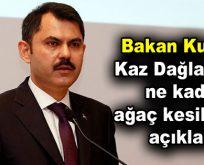 Bakan Kurum: Kaz Dağları'nda ne kadar ağaç kesildiğini açıkladı