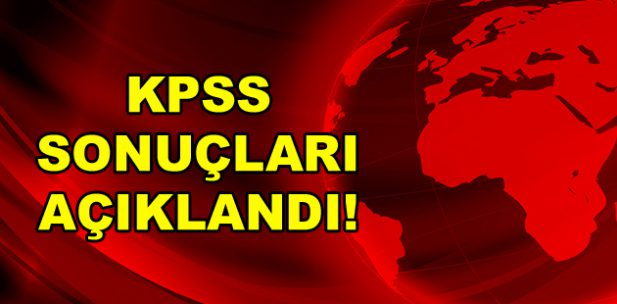 KPSS lisans sonuçları açıklandı