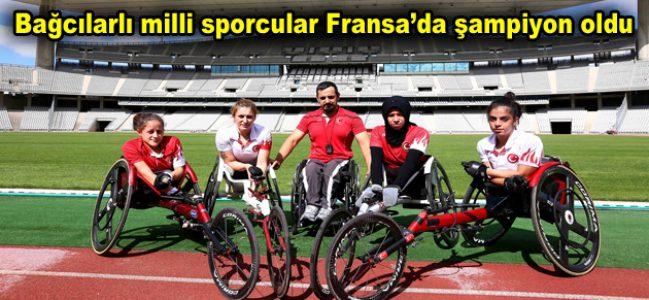 Bağcılarlı milli sporcular Fransa'da şampiyon oldu