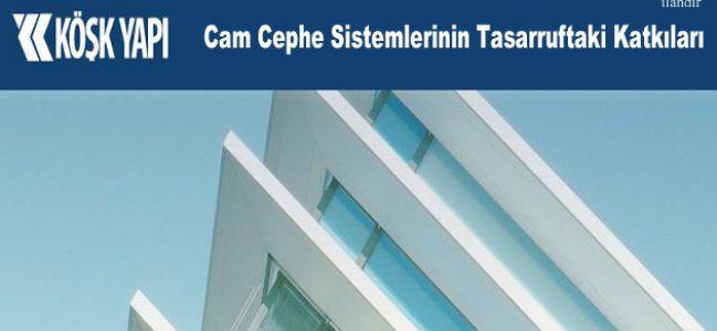 Cam Cephe Sistemlerinin Tasarruftaki Katkıları