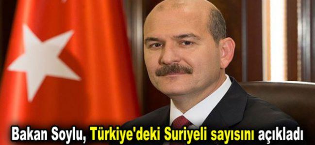 Bakan Soylu, Türkiye'deki Suriyeli sayısı açıkladı