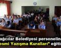 """Bağcılar Belediyesi personeline """"Resmi Yazışma Kuralları"""" eğitimi"""