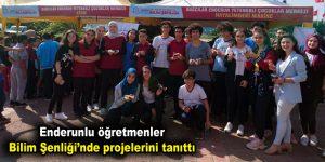 Enderunlu öğretmenler Bilim Şenliği'nde projelerini tanıttı