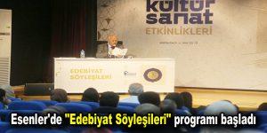 """Esenler'de """"Edebiyat Söyleşileri"""" programı başladı"""