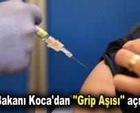 """Sağlık Bakanı Koca'dan """"Grip Aşısı"""" açıklaması"""