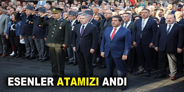 ESENLER ATATÜRK'Ü ANDI