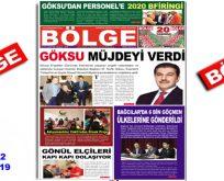 """BÖLGE GAZETESİ , 192. """"ARALIK"""" SAYISI ÇIKTI!.."""