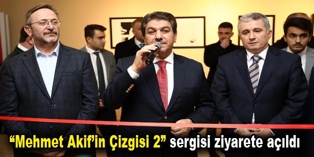 Mehmet Akif'in Çizgisi Karikatürlerle Sergilendi