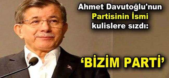 Ahmet Davutoğlu'nun partisinin ismi kulislere sızdı